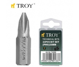 BİTS UÇ SETİ (PH0X25MM, 24 AD) TROY 22200